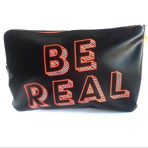 Benefit Cosmetics Be Real Graphic Makeup Bag Pouch
